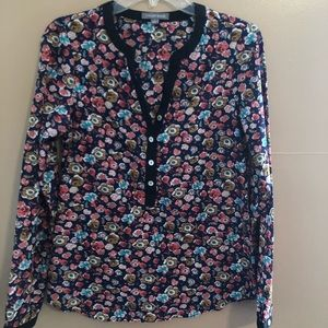Tinley  Road Floral Popover Shirt Size Small